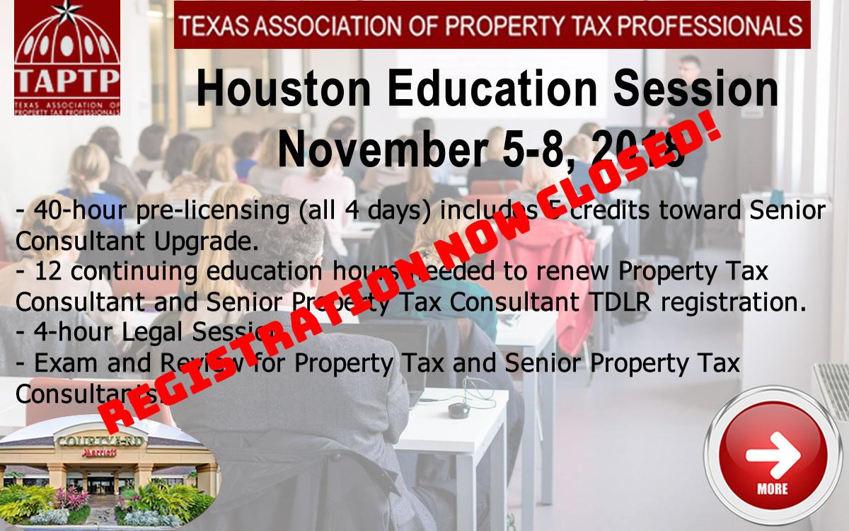 2018 Nov Houston Educ Slide Closed Registration