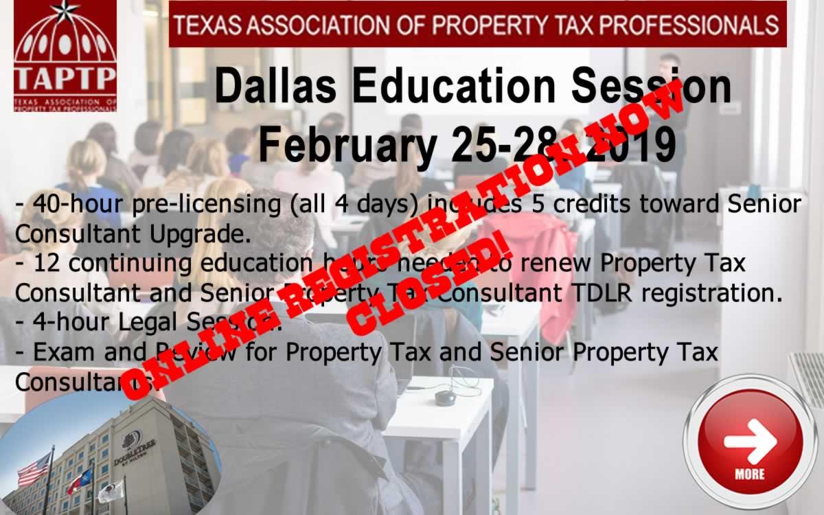 Dallas Feb 2019 Seminar Now Closed