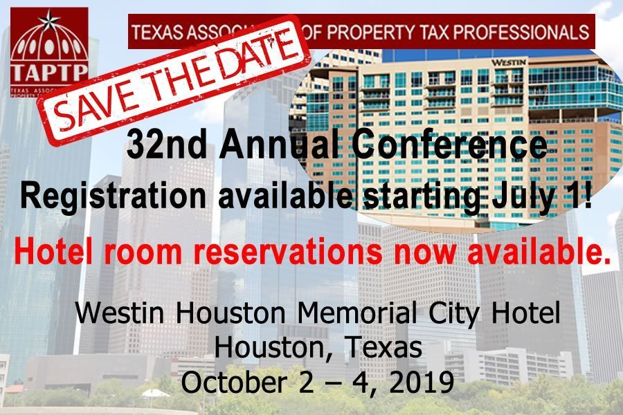 2019 TAPTP Conference in Houston Reservations now available